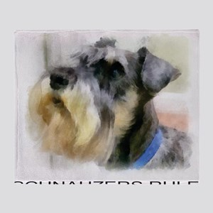 schnauzersrule Throw Blanket